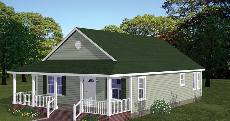 Country, Ranch, Southern, Traditional House Plan 40688 with 3 Beds, 2 Baths Elevation