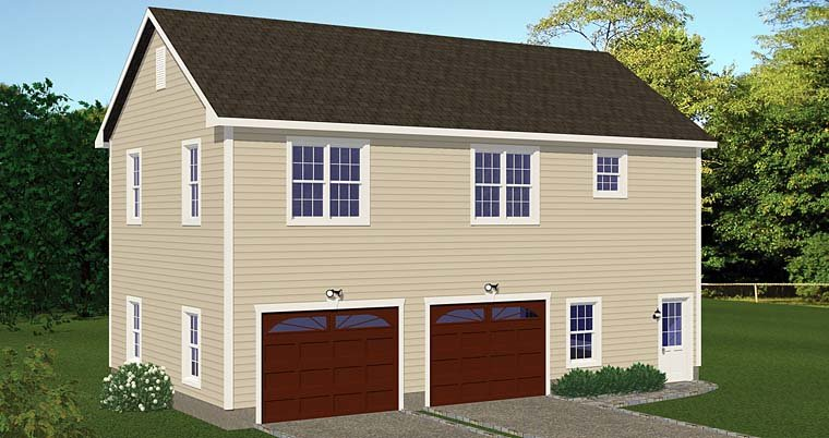 Garage-Living Plan 40694 with 2 Beds, 1 Baths, 2 Car Garage Elevation