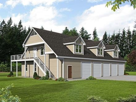 Garage-Living Plan 40801
