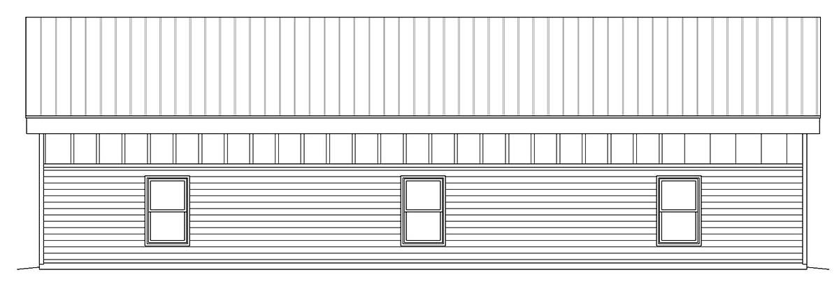 Contemporary, Modern 2 Car Garage Plan 40807, RV Storage Picture 1