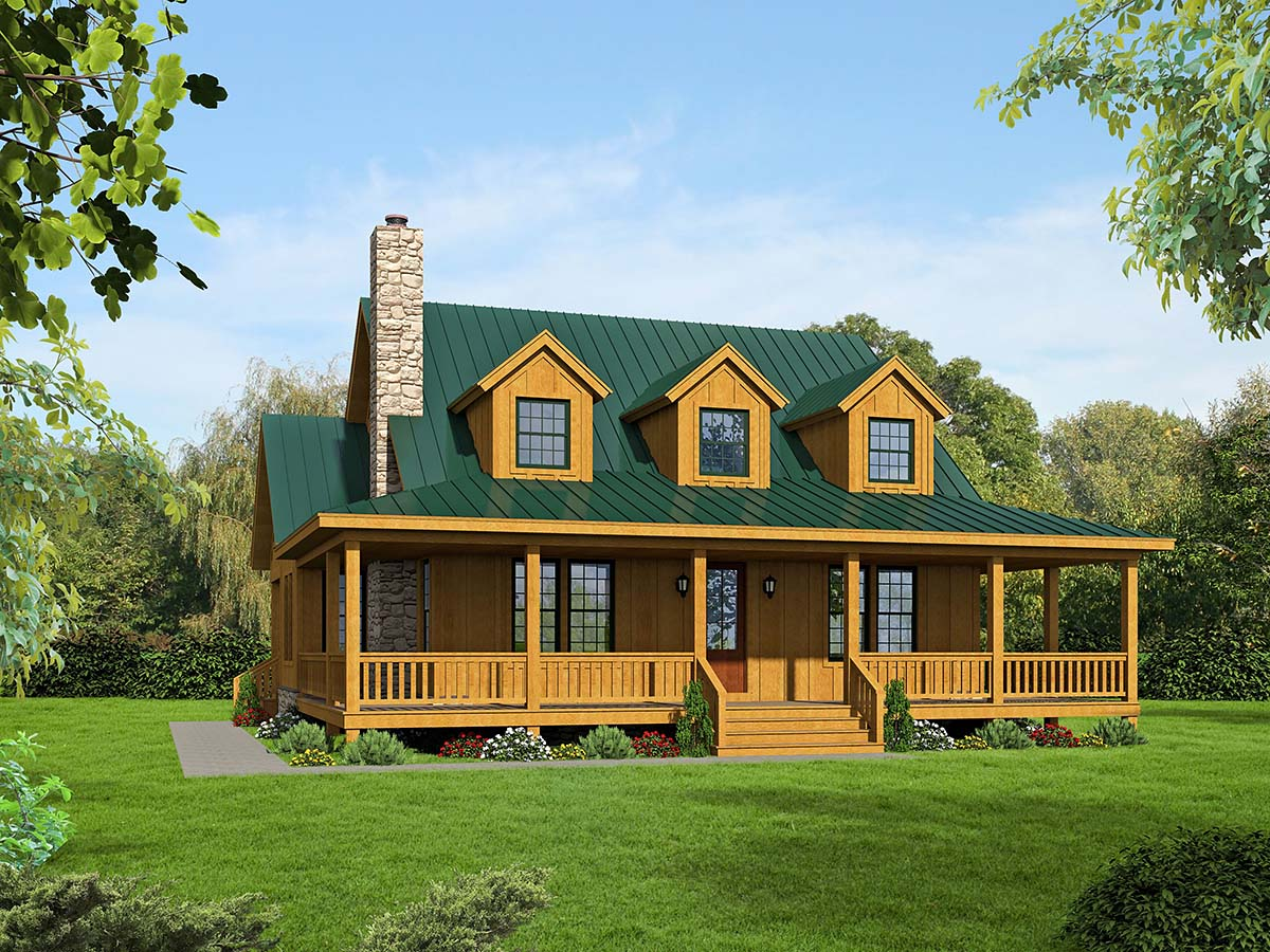 Country, Farmhouse, Traditional House Plan 40822 with 3 Beds, 4 Baths Elevation
