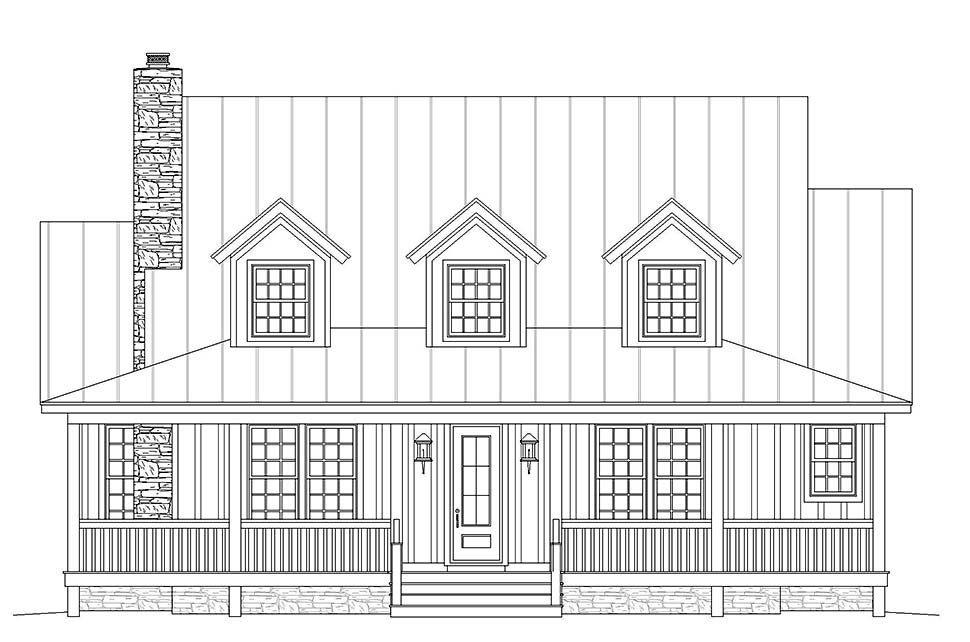 Country, Farmhouse, Traditional House Plan 40822 with 3 Beds, 4 Baths Picture 3