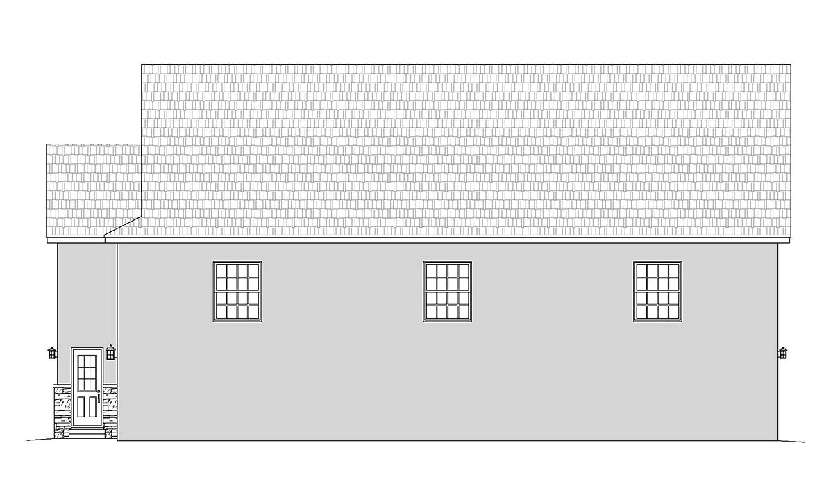Country, European, French Country, Traditional 2 Car Garage Plan 40834, RV Storage Picture 1