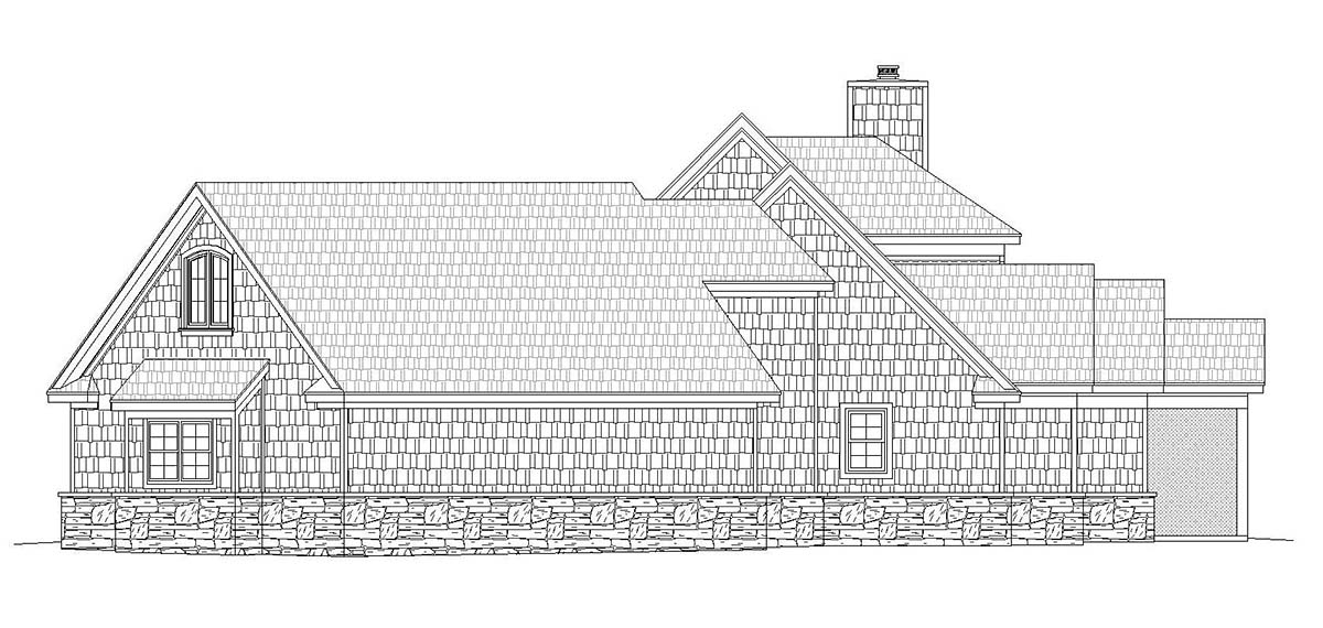 Country, Craftsman, Farmhouse, Traditional House Plan 40861 with 4 Beds, 3 Baths, 3 Car Garage Picture 1