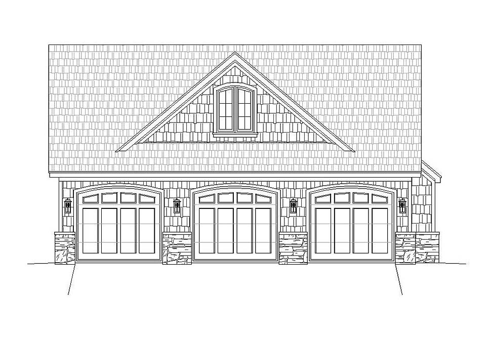 Country, Craftsman, Farmhouse, Traditional House Plan 40861 with 4 Beds, 3 Baths, 3 Car Garage Picture 4