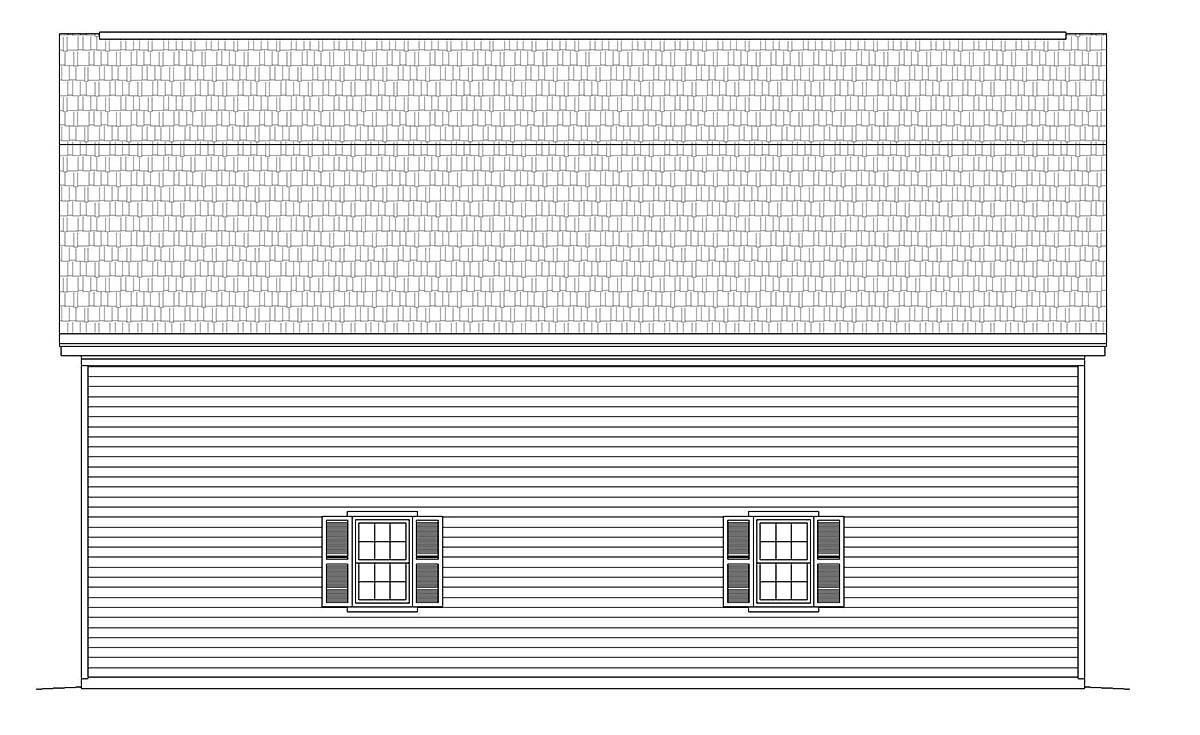 Cottage, Country 4 Car Garage Plan 40884 Picture 1