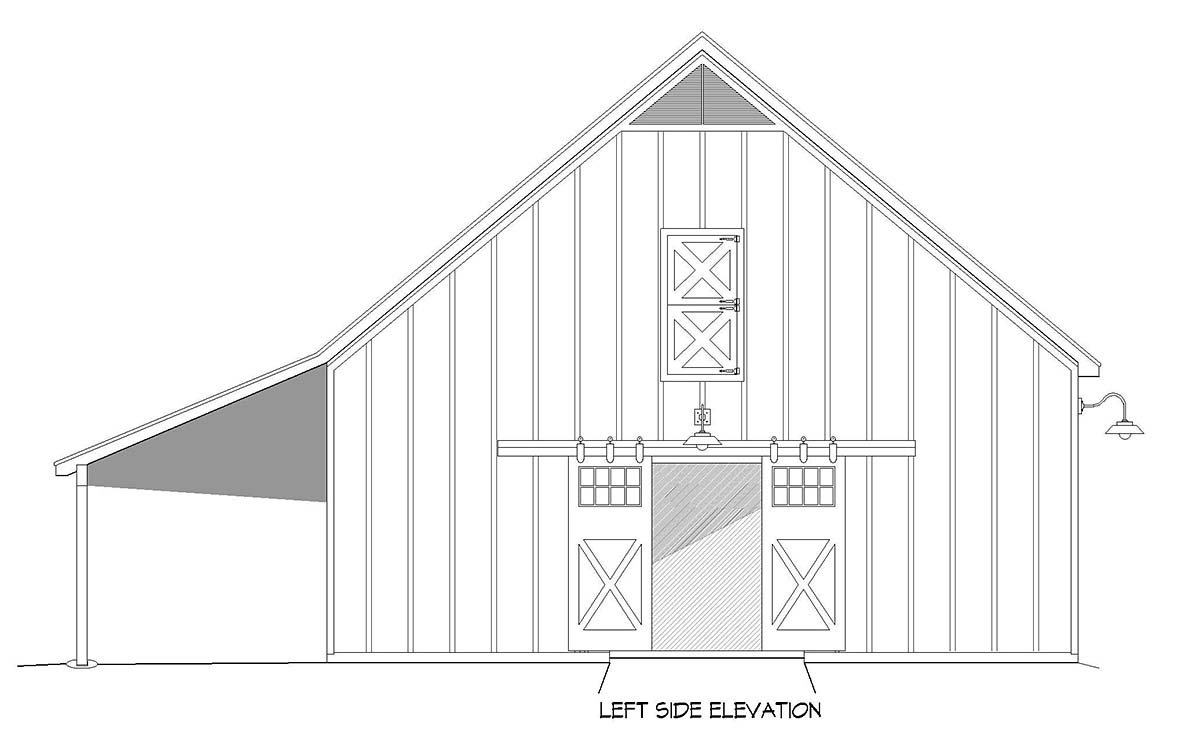 Country, Farmhouse, Traditional 2 Car Garage Plan 40888 Picture 2