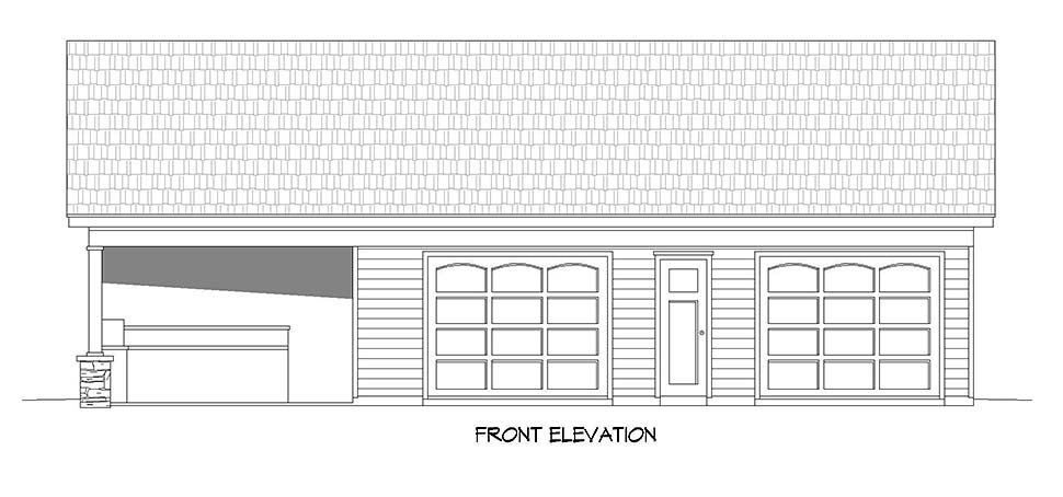 Bungalow, Country, Craftsman, Ranch, Traditional 0 Car Garage Plan 40890 Picture 3