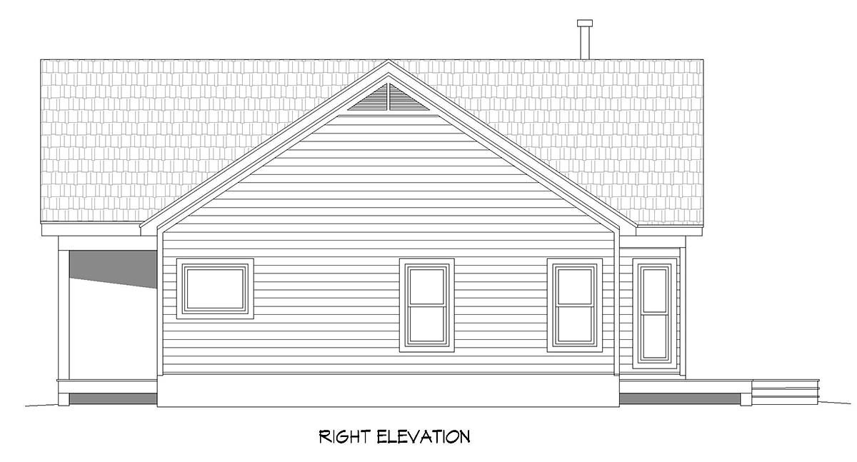 Ranch, Traditional House Plan 40891 with 3 Beds, 2 Baths Picture 1