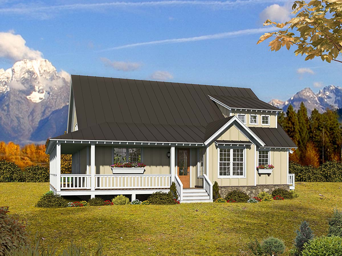Cottage, Country, Farmhouse House Plan 40893 with 3 Beds, 3 Baths Elevation