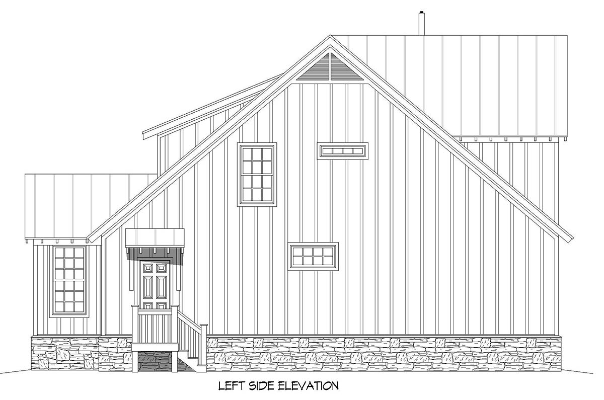 Cottage, Country, Farmhouse House Plan 40893 with 3 Beds, 3 Baths Picture 2