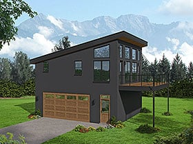 Plan Number 40897 - 804 Square Feet