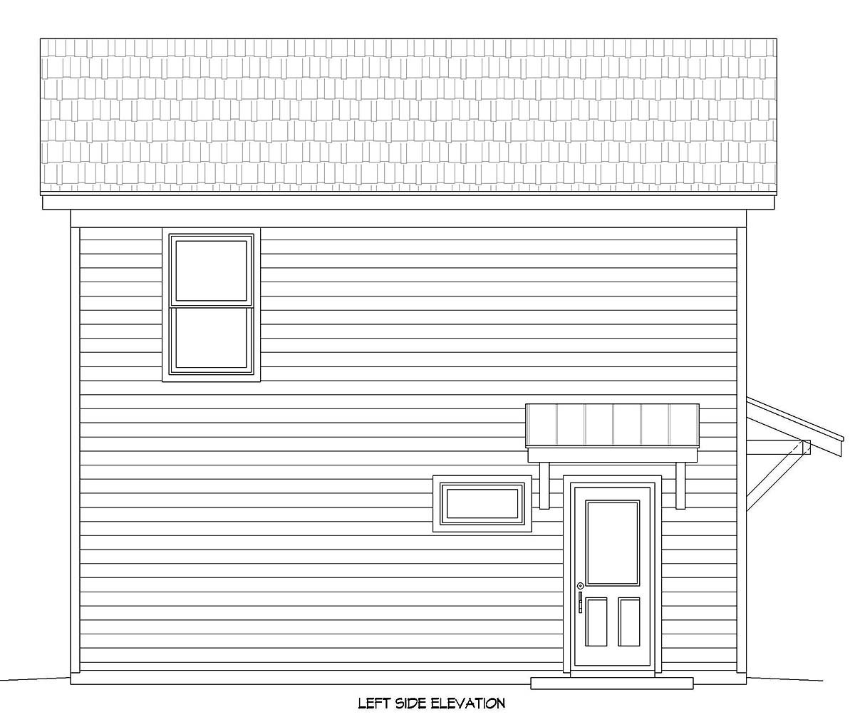 Country, Traditional 2 Car Garage Apartment Plan 40899 with 2 Beds, 1 Baths Picture 2