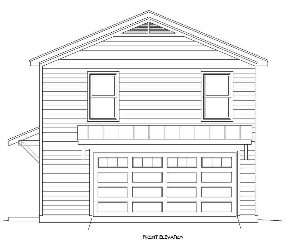 Country, Traditional 2 Car Garage Apartment Plan 40899 with 2 Beds, 1 Baths Picture 3