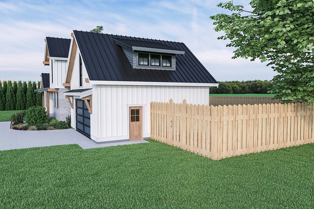 Contemporary, Country, Farmhouse House Plan 40908 with 3 Beds, 3 Baths, 2 Car Garage Picture 1