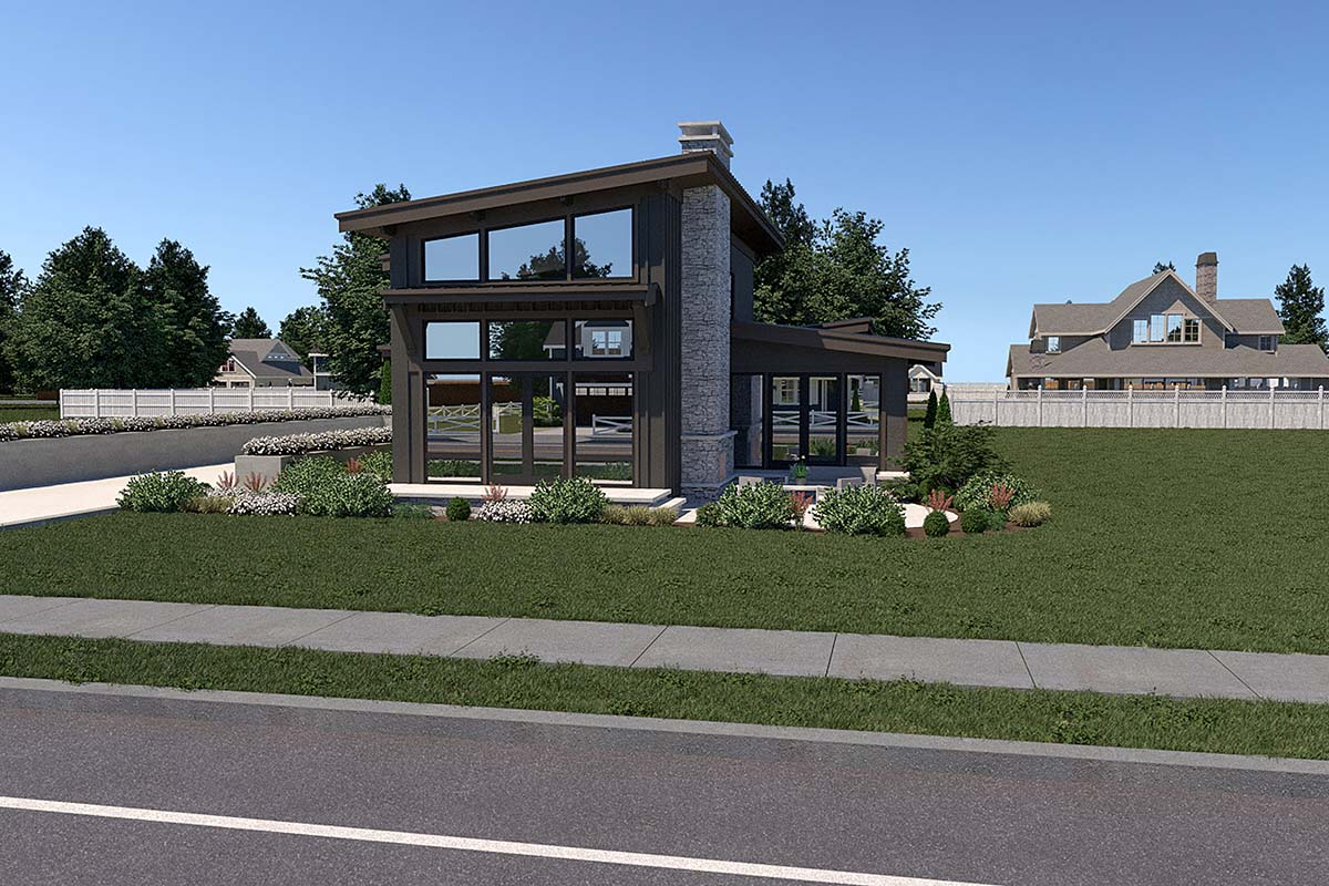 Contemporary House Plan 40910 with 3 Beds, 3 Baths, 2 Car Garage Picture 1