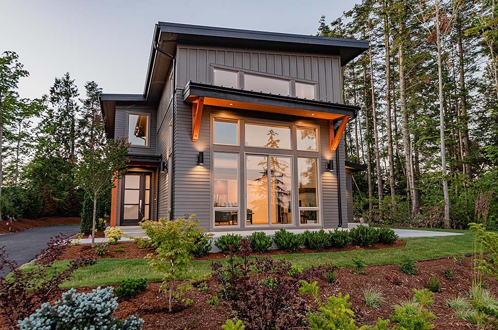 Contemporary House Plan 40910 with 3 Beds, 3 Baths, 2 Car Garage Picture 11