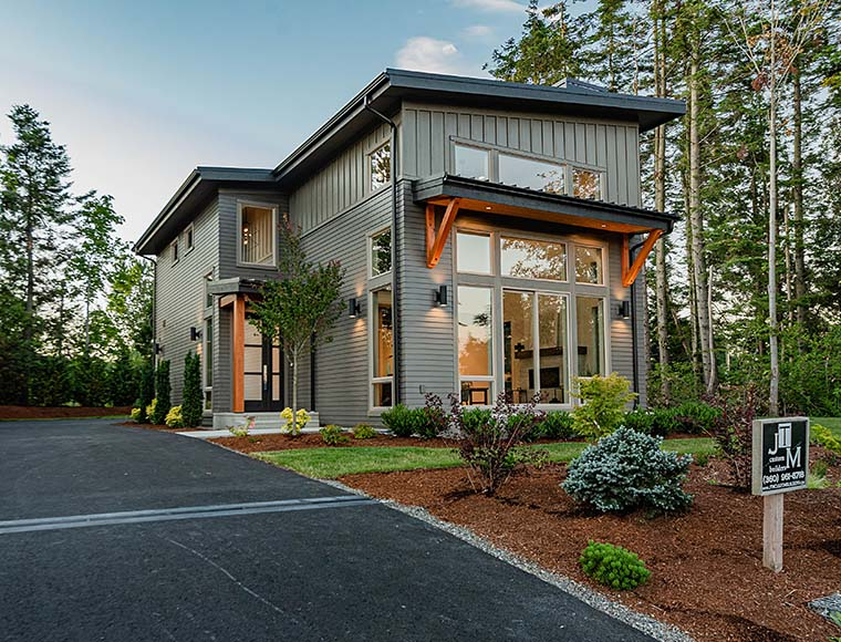 Contemporary House Plan 40910 with 3 Beds, 3 Baths, 2 Car Garage Picture 5