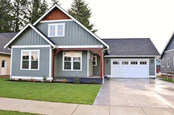 Country, Craftsman House Plan 40915 with 3 Beds, 3 Baths, 2 Car Garage Elevation