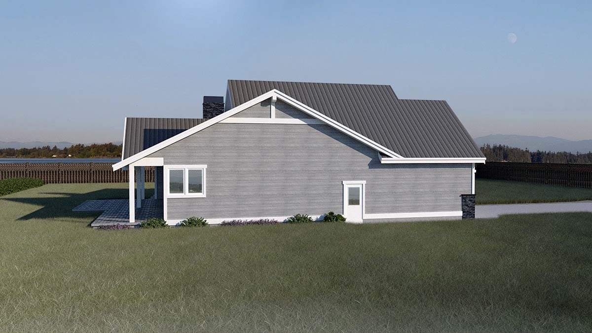 Country, Craftsman, Ranch, Traditional House Plan 40918 with 3 Beds, 2 Baths, 2 Car Garage Picture 2