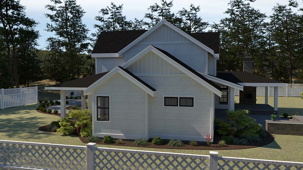 Country, Farmhouse House Plan 40951 with 5 Beds, 4 Baths, 2 Car Garage Picture 1