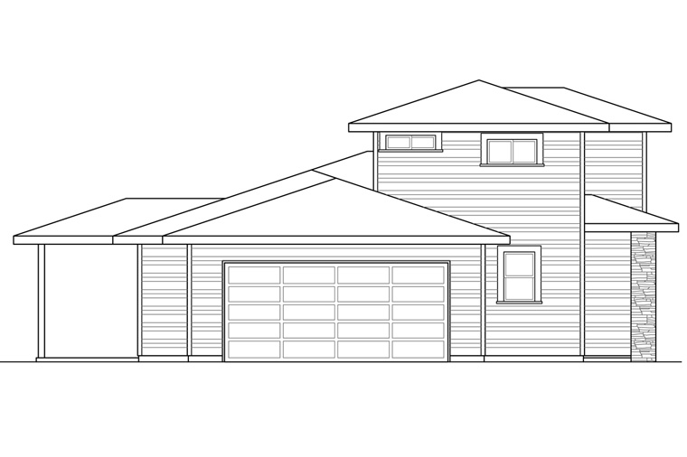 Contemporary, Modern, Prairie, Southwest House Plan 41236 with 3 Beds, 3 Baths, 2 Car Garage Picture 1