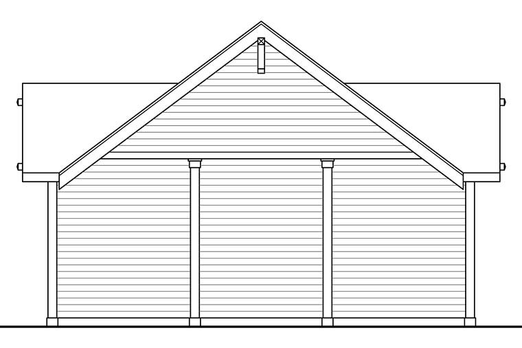 Craftsman, Ranch, Traditional 3 Car Garage Plan 41273 Picture 2