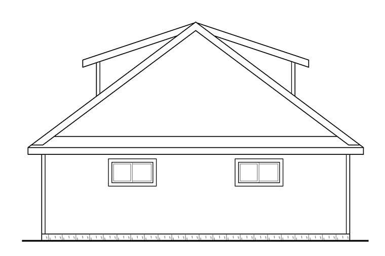 Contemporary 3 Car Garage Plan 41275 Picture 2