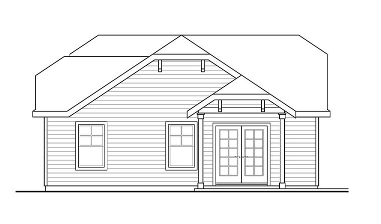 Cottage, Country 2 Car Garage Plan 41276 Picture 1