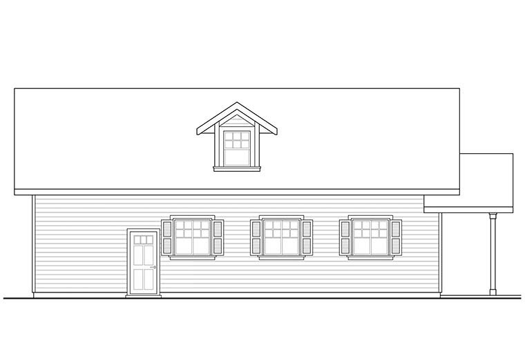 Country, Craftsman, Southern, Traditional 2 Car Garage Apartment Plan 41292 Picture 2