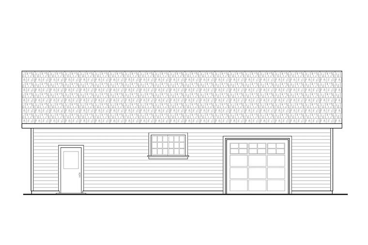 Traditional 3 Car Garage Plan 41332 Picture 1