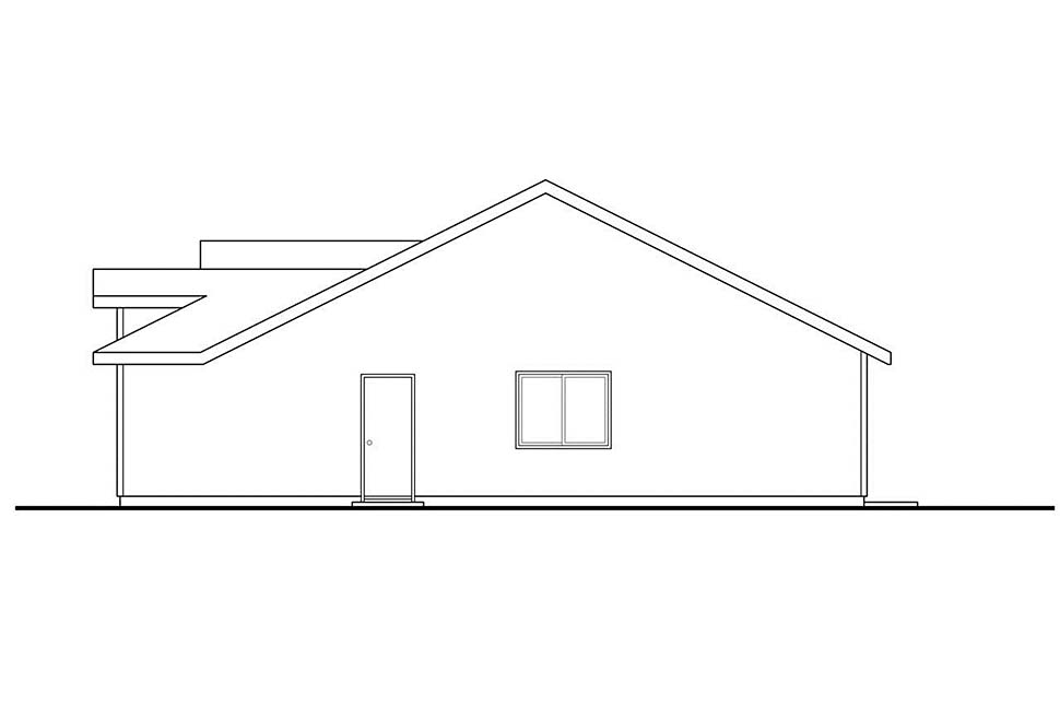 Cottage, Country, Ranch House Plan 41334 with 2 Beds, 1 Baths, 1 Car Garage Picture 1