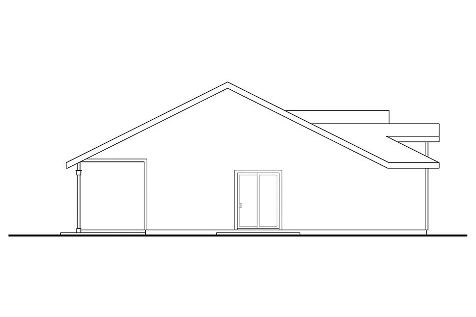 Cottage, Country, Ranch House Plan 41334 with 2 Beds, 1 Baths, 1 Car Garage Picture 2