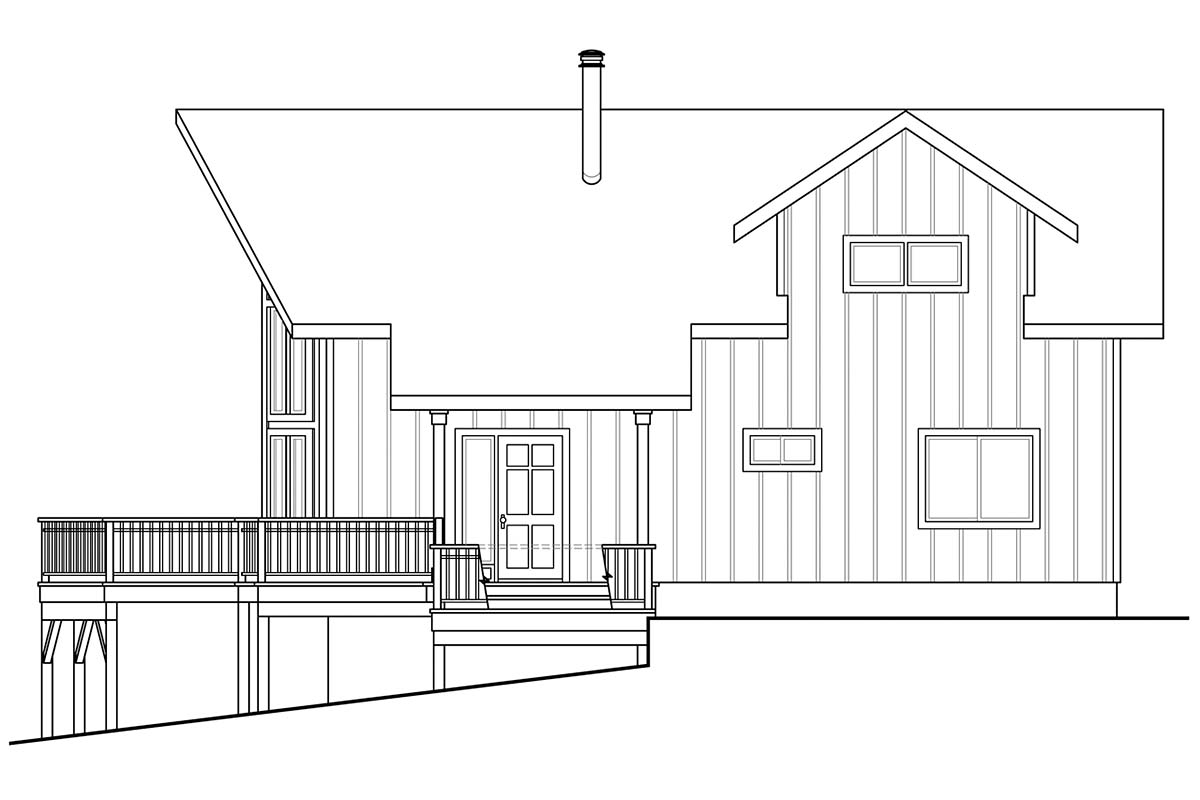 A-Frame House Plan 41336 with 2 Beds, 2 Baths Picture 1