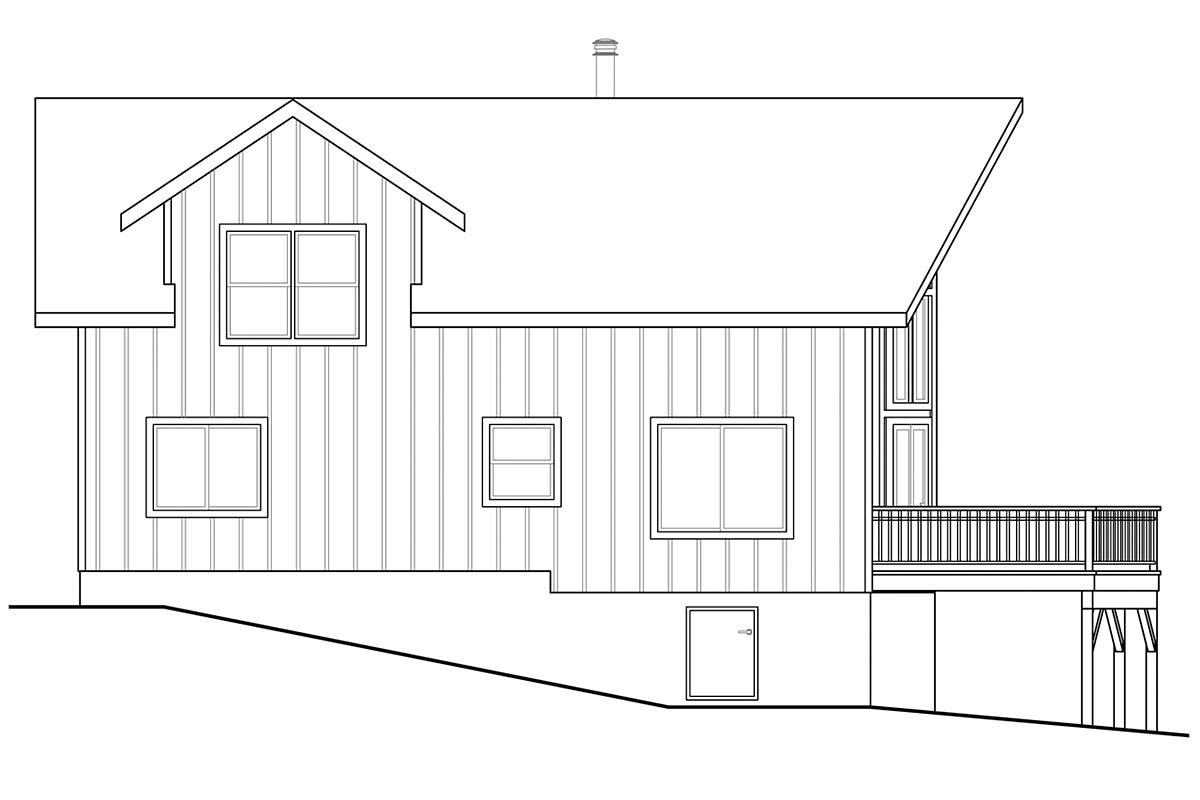 A-Frame House Plan 41336 with 2 Beds, 2 Baths Picture 2