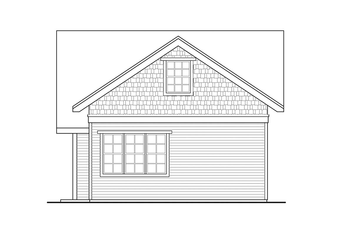 Cottage, Country, Traditional 2 Car Garage Apartment Plan 41363 Picture 1