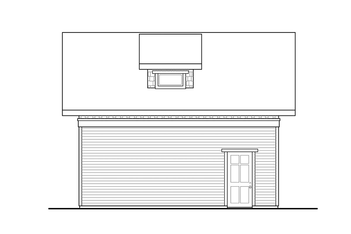 Cottage, Country, Traditional 2 Car Garage Apartment Plan 41363 Picture 2