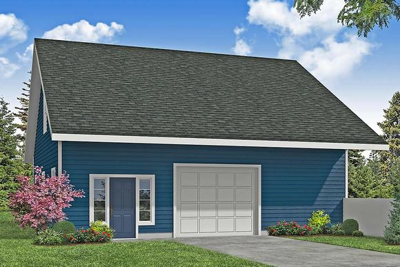 Country, Traditional 3 Car Garage Plan 41373 Elevation