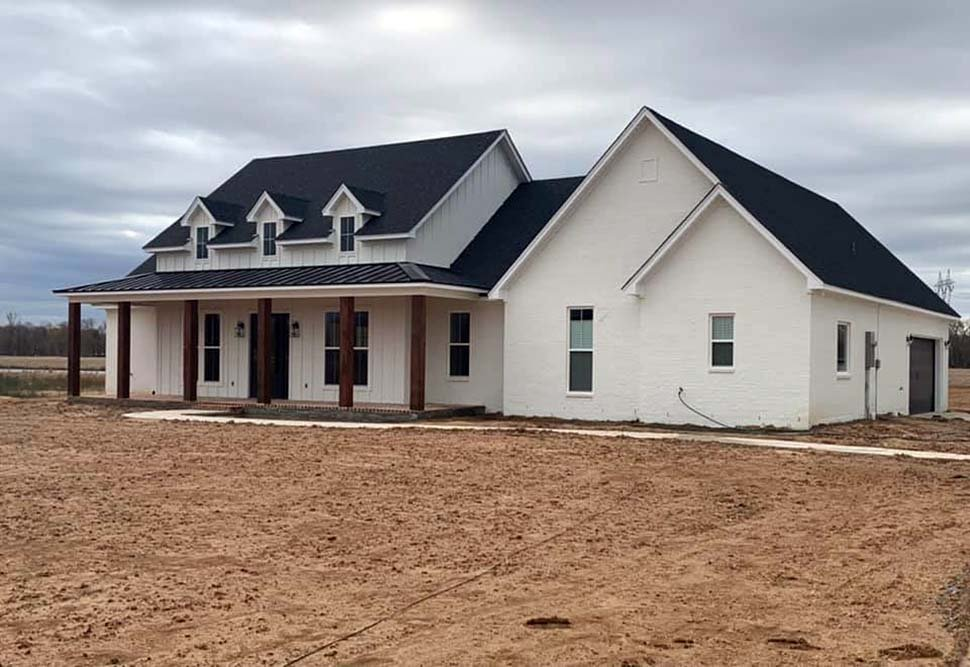 Country, Farmhouse, Southern House Plan 41409 with 3 Beds, 3 Baths, 2 Car Garage Picture 2