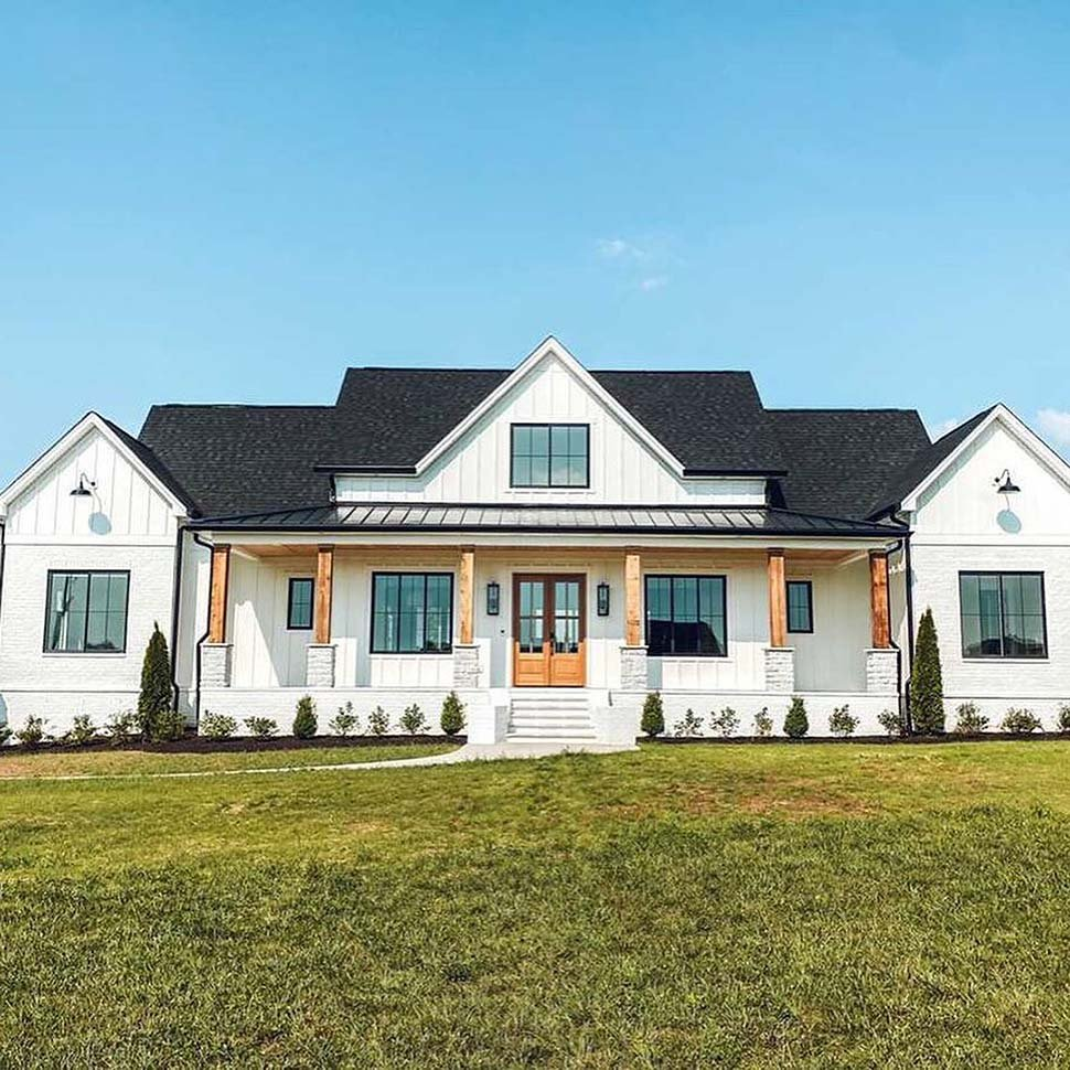 Country, Farmhouse House Plan 41418 with 4 Beds, 4 Baths, 3 Car Garage Picture 3