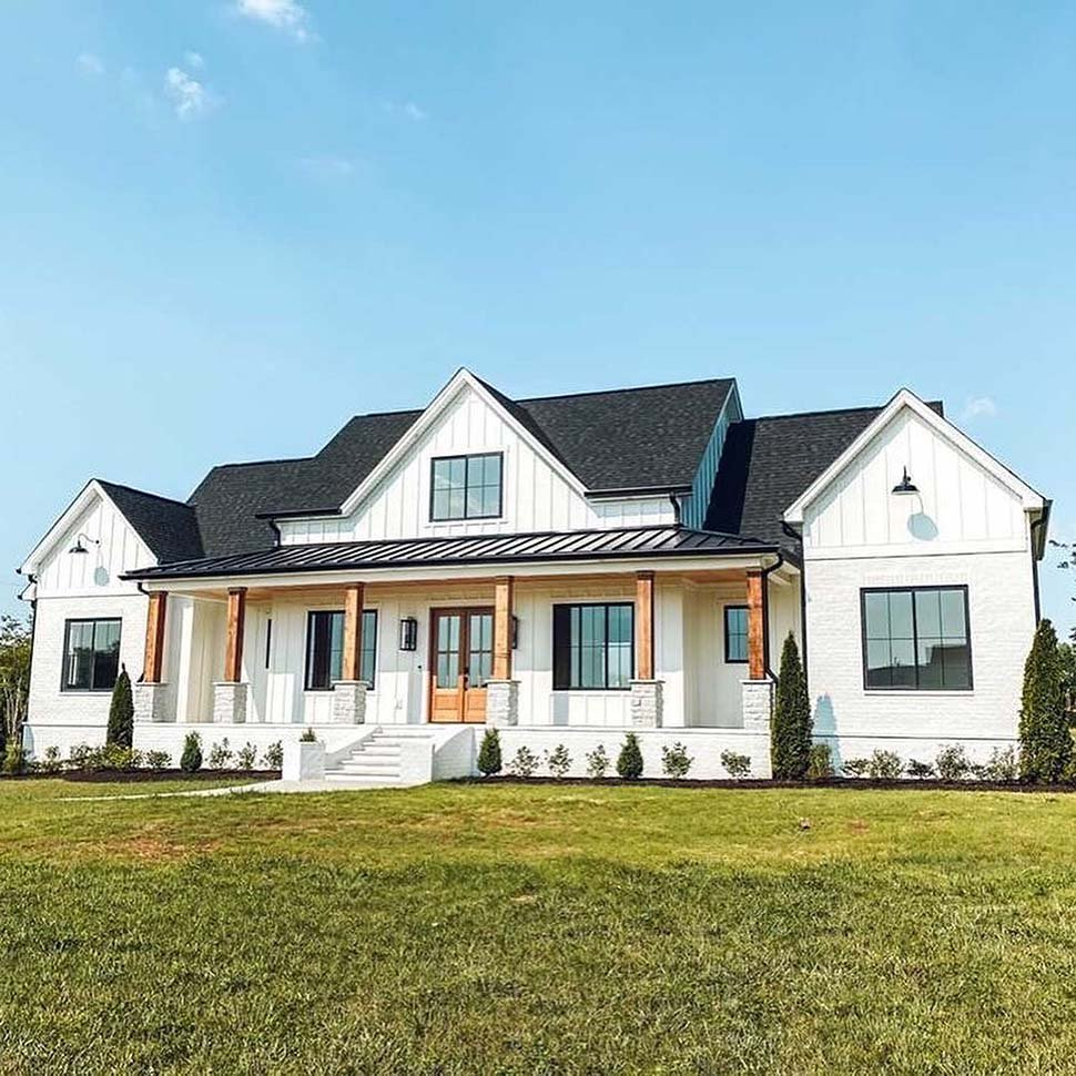 Country, Farmhouse House Plan 41418 with 4 Beds, 4 Baths, 3 Car Garage Picture 4