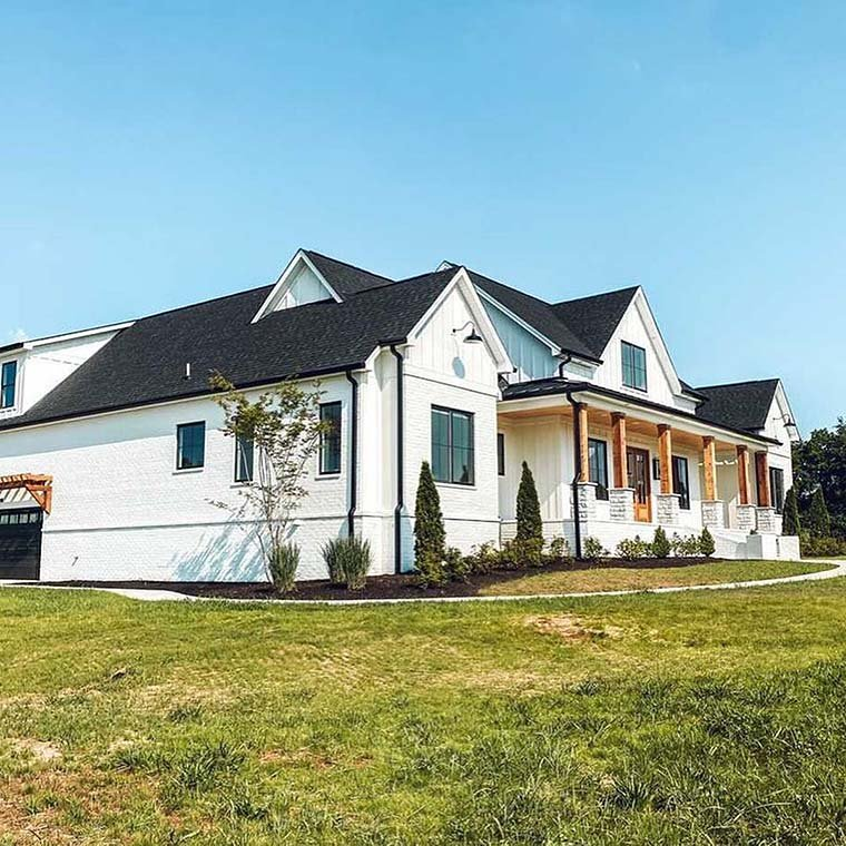 Country, Farmhouse House Plan 41418 with 4 Beds, 4 Baths, 3 Car Garage Picture 5