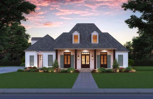 French Country, Southern House Plan 41431 with 4 Beds, 3 Baths, 3 Car Garage Elevation