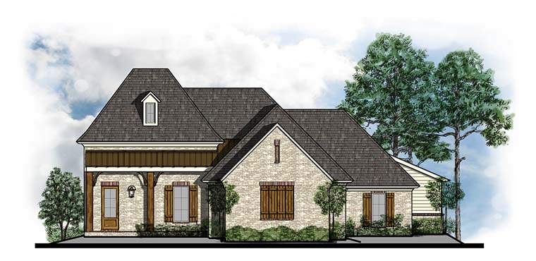 Cottage, Country, Craftsman, French Country House Plan 41542 with 4 Beds, 3 Baths, 3 Car Garage Elevation