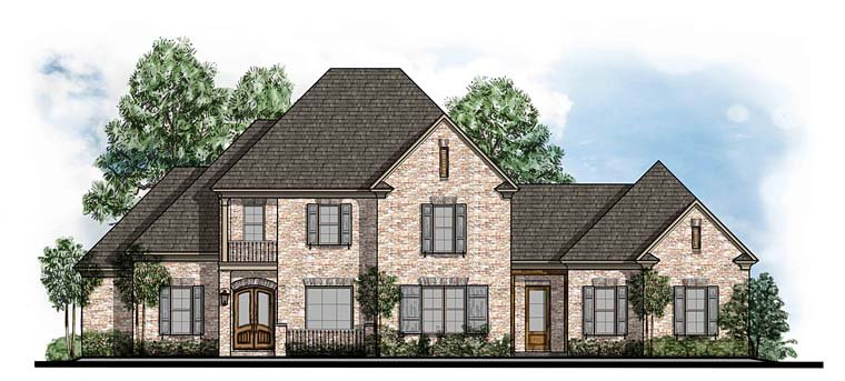 European, Southern, Traditional House Plan 41559 with 4 Beds, 4 Baths, 3 Car Garage Elevation