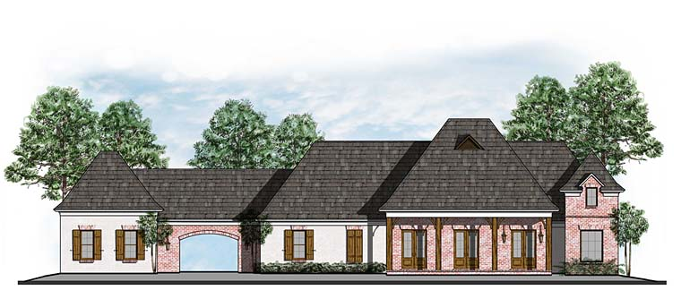 European, French Country House Plan 41561 with 4 Beds, 3 Baths, 9 Car Garage Elevation