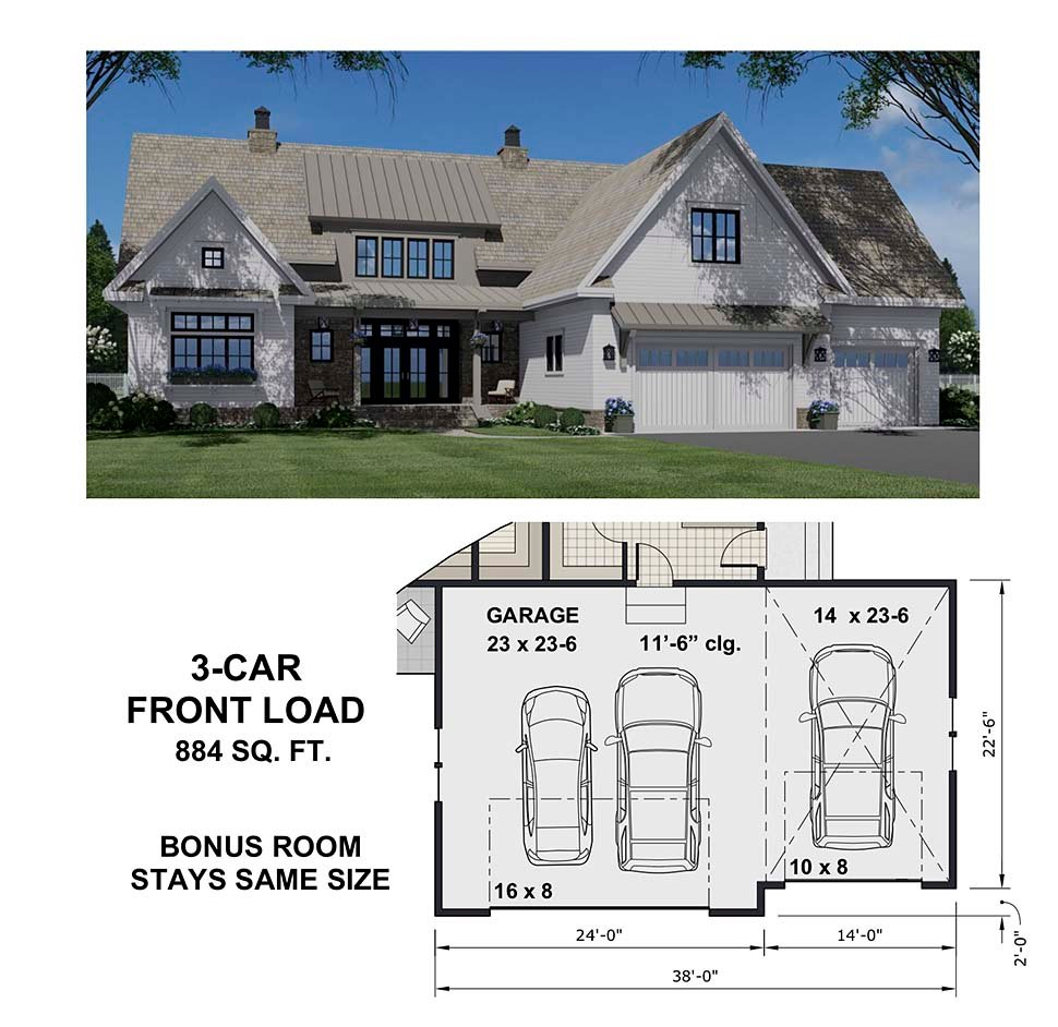 Country House Plan 41900 with 4 Beds, 5 Baths, 2 Car Garage Picture 7