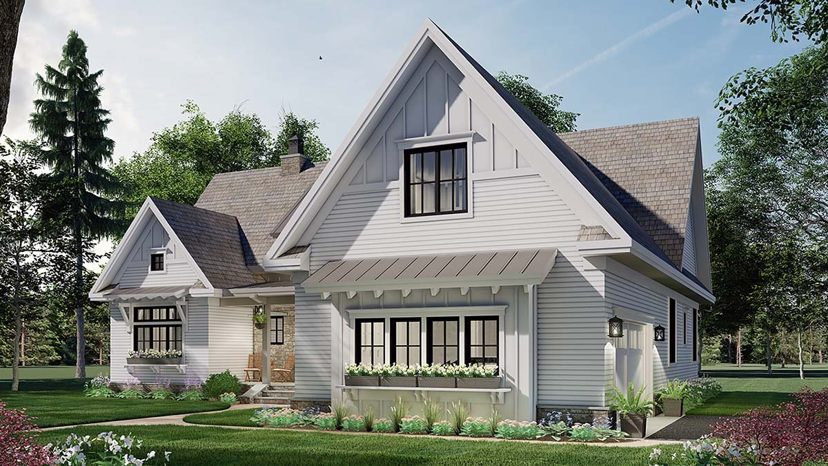 Farmhouse House Plan 41903 with 3 Beds, 3 Baths, 2 Car Garage Picture 1