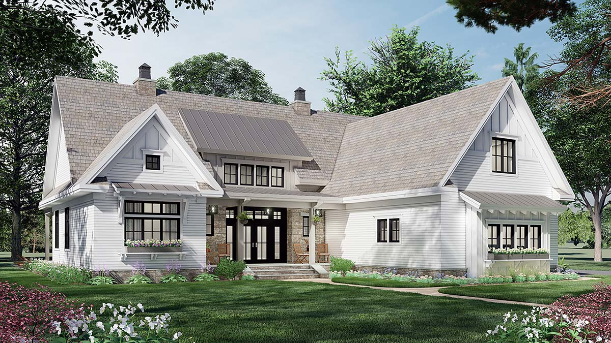 Farmhouse House Plan 41903 with 3 Beds, 3 Baths, 2 Car Garage Picture 2