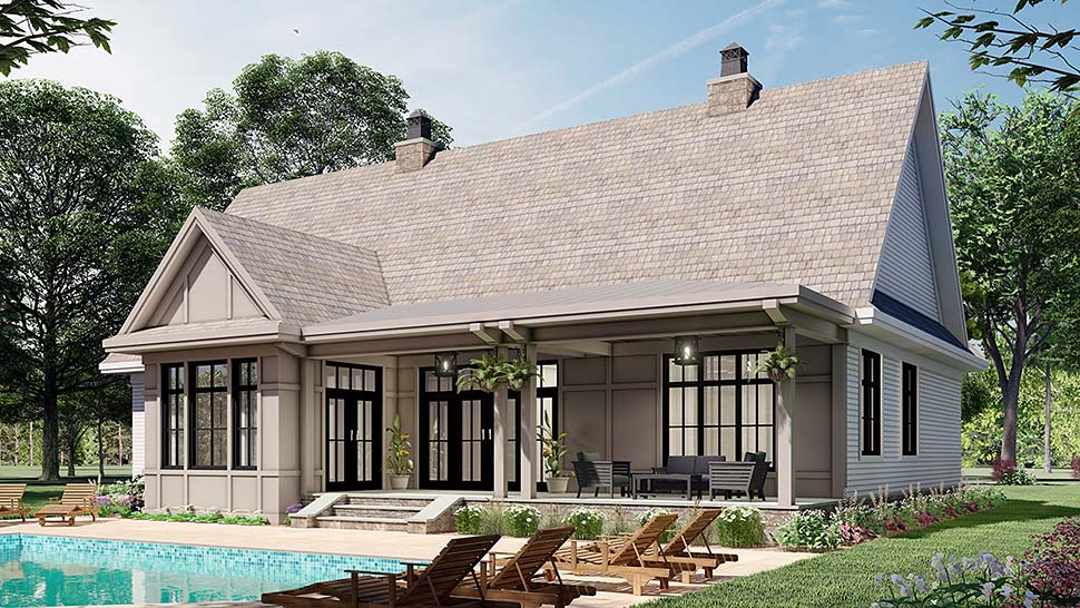 Farmhouse House Plan 41903 with 3 Beds, 3 Baths, 2 Car Garage Picture 4